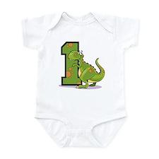1st Birthday Dinosaur Infant Bodysuit