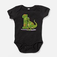 1st Birthday Dinosaur Baby Bodysuit