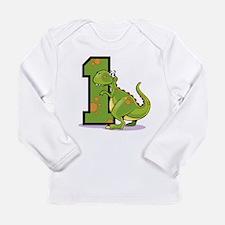 1st Birthday Dinosaur Long Sleeve Infant T-Shirt
