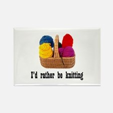I'd rather be knitting Rectangle Magnet