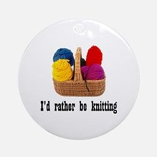 I'd rather be knitting Ornament (Round)