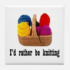 I'd rather be knitting Tile Coaster