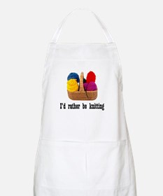 I'd rather be knitting BBQ Apron