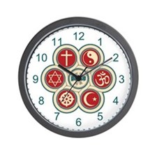 Religious Peace Wall Clock