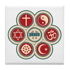 Religious Peace Tile Coaster
