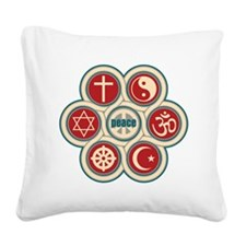 Religious Peace Square Canvas Pillow