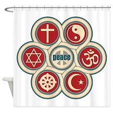 Religious Peace Shower Curtain