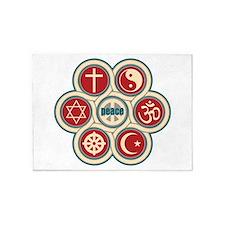 Religious Peace 5'x7'Area Rug