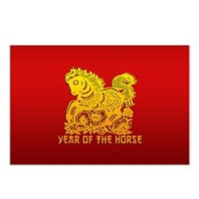 Chinese Zodiac Paper Cut Horse Postcards (Package