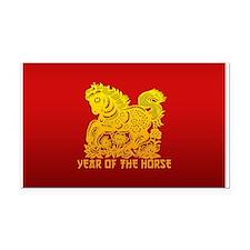 Chinese Zodiac Paper Cut Horse Rectangle Car Magne
