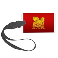 Chinese Zodiac Paper Cut Horse Luggage Tag