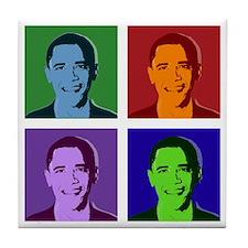 Obama pop art Tile Coaster
