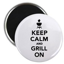 "Keep calm and grill on 2.25"" Magnet (10 pack)"