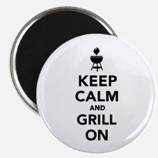 """Keep calm and grill on 2.25"""" Magnet (100 pack)"""