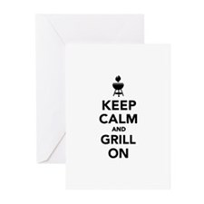 Keep calm and grill on Greeting Cards (Pk of 20)