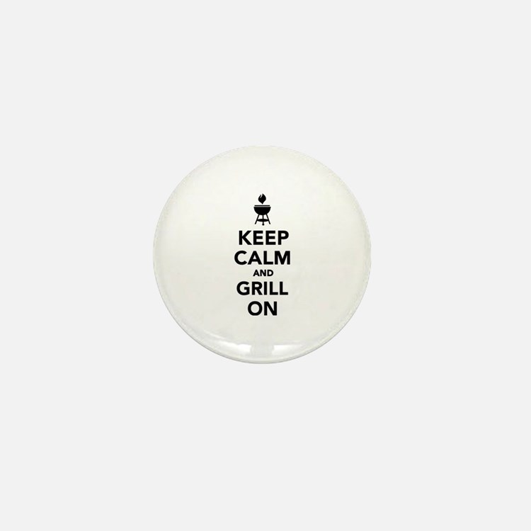 Keep calm and grill on Mini Button (10 pack)
