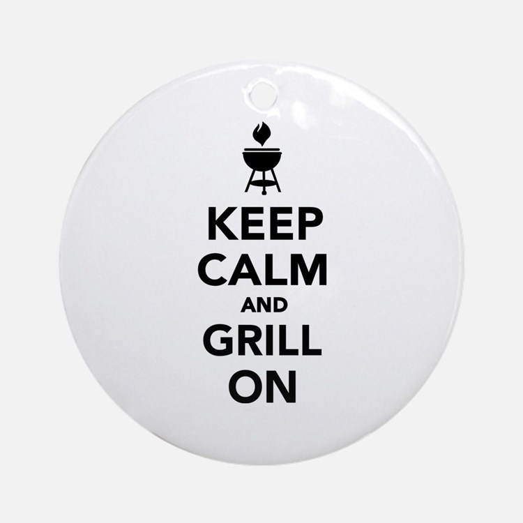 Keep calm and grill on Ornament (Round)