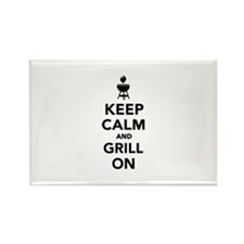 Keep calm and grill on Rectangle Magnet