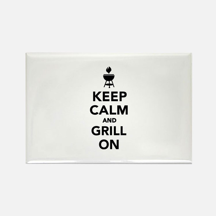 Keep calm and grill on Rectangle Magnet (10 pack)
