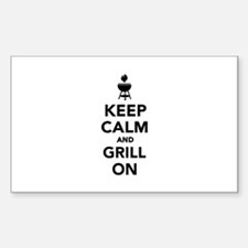 Keep calm and grill on Decal
