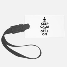 Keep calm and grill on Luggage Tag