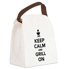Keep calm and grill on Canvas Lunch Bag
