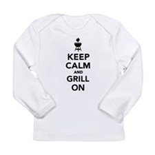 Keep calm and grill on Long Sleeve Infant T-Shirt