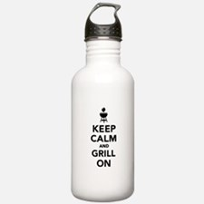 Keep calm and grill on Water Bottle