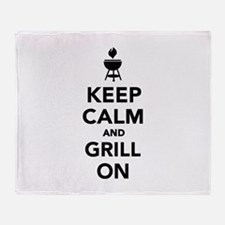 Keep calm and grill on Throw Blanket