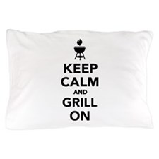 Keep calm and grill on Pillow Case