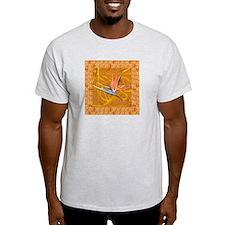 Gold Bird of Paradise AshGrey T-Shirt