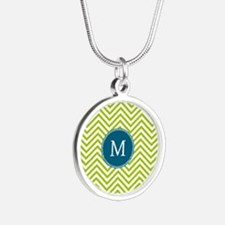 lime and blue Thin Chevrons Necklaces