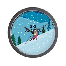 TOP Ski Alaska Wall Clock