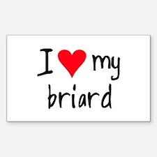 I LOVE MY Briard Decal