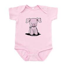 Sittin' Piggie Infant Bodysuit