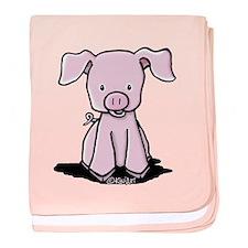 Sittin' Piggie baby blanket