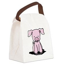 Sittin' Piggie Canvas Lunch Bag
