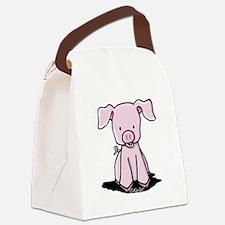Sittin' Piggie Canvas Lunch Bag