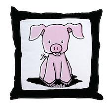 Sittin' Piggie Throw Pillow