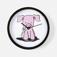 Sittin' Piggie Wall Clock