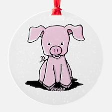 Sittin' Piggie Ornament