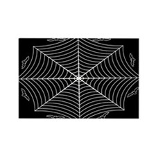 Spider web and bats Rectangle Magnet