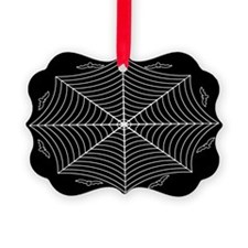 Spider web and bats Picture Ornament