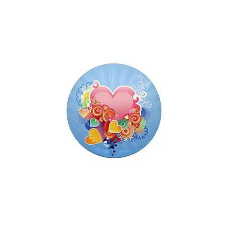 Decorative - Pattern - Hearts Mini Button (10 pack