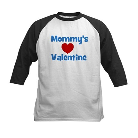 Mommy's Valentine - Red Heart Kids Baseball Jersey