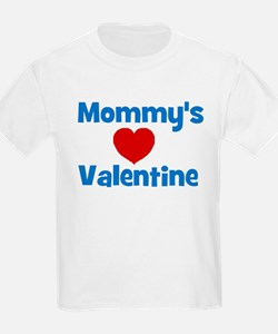 Mommy's Valentine - Red Heart Kids T-Shirt