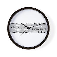 """""""Geordie Words"""" Wall Clock"""