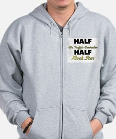 Half Air Traffic Controller Half Rock Star Zip Hoodie