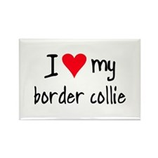 I LOVE MY Border Collie Rectangle Magnet