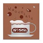 Hot Cocoa Tile Coaster